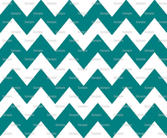 Teal - Chevron Background Birthday - Edible Cake and Cupcake Topper For Birthday's and Parties! - D9850