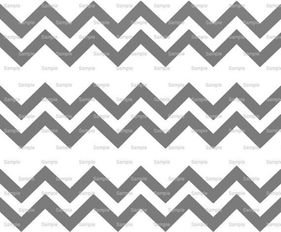 Gray - Chevron Birthday Background - Side Strips ~ Edible 2D Fondant Birthday Cake Side Toppers ~ D6364