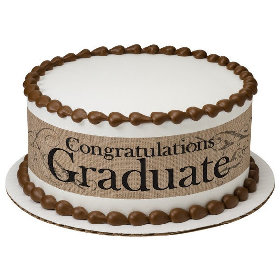 Congratulations Graduate - Edible Cake Side Toppers- Decorate The Sides of Your Cake! - D24096