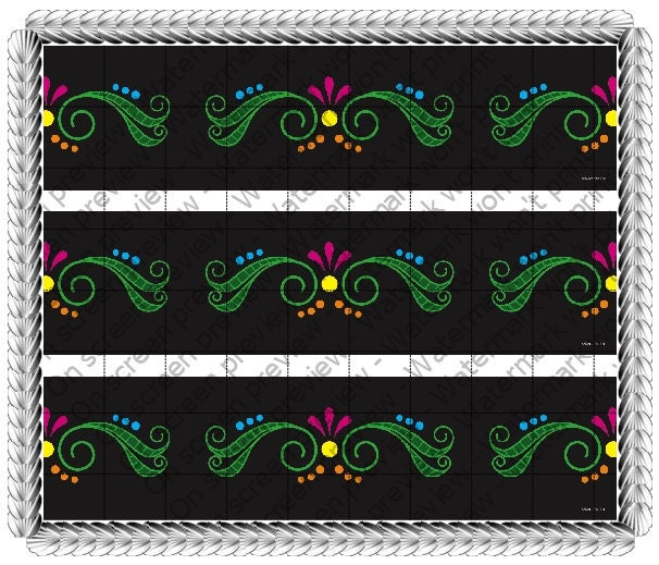 Mexico Day of The Dead Design - Side Strips - Edible Cake Side