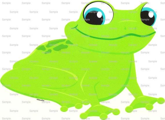 Happy Green Frog Birthday ~ Edible 2D Fondant Birthday Cake/Cupcake Topper ~ D872