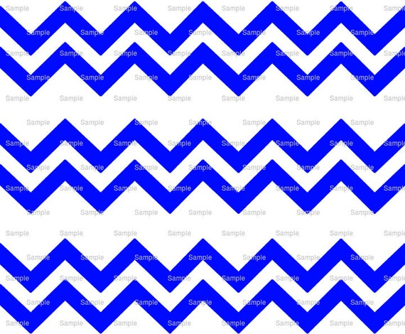 Blue - Chevron Birthday Background - Side Strips - Edible Cake Side Toppers- Decorate The Sides of Your Cake! - D7876