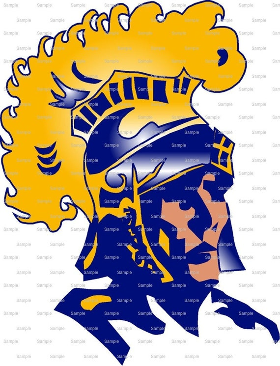Trojans Mascot Birthday - Edible Cake and Cupcake Topper For Birthday's and Parties! - D963
