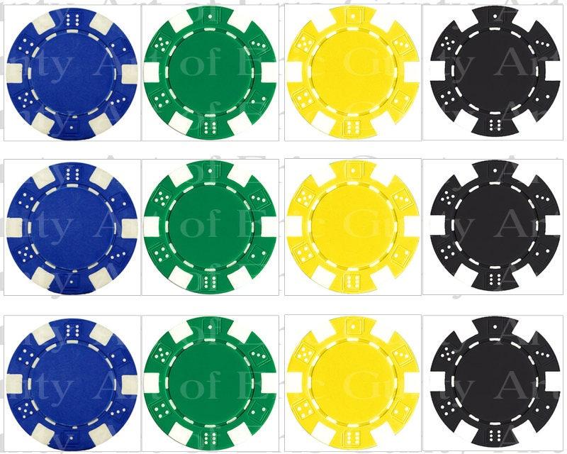 Swell Las Vegas Casino Poker Chips Birthday Side Strips Edible 2D Birthday Cards Printable Benkemecafe Filternl