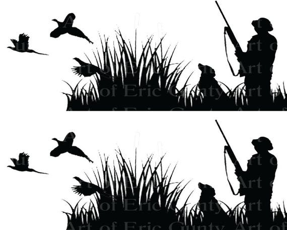 Pheasant Hunting - Birthday Background - Side Strips ~ Edible 2D Fondant Birthday Cake Side Toppers ~ D22628