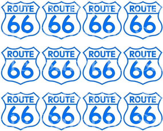 Route 66 Birthday - Side Strips ~ Edible 2D Fondant Birthday Cake Side Toppers ~ D24472