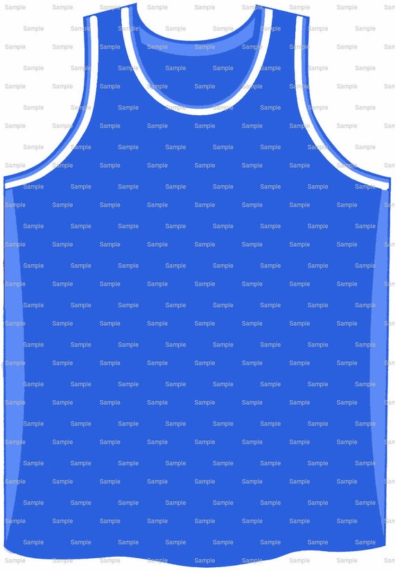 Blue Basketball Jersey Birthday - Edible Cake and Cupcake Topper For Birthday's and Parties! - D9964