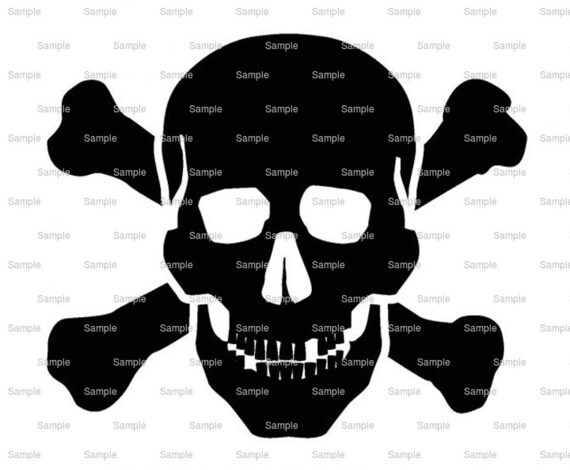 Pirate Skull & Crossbones Birthday ~ Edible 2D Fondant Birthday Cake/Cupcake Topper ~ D7925