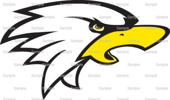 Eagle Mascot Birthday - Edible Cake and Cupcake Topper For Birthday's and Parties! - D841