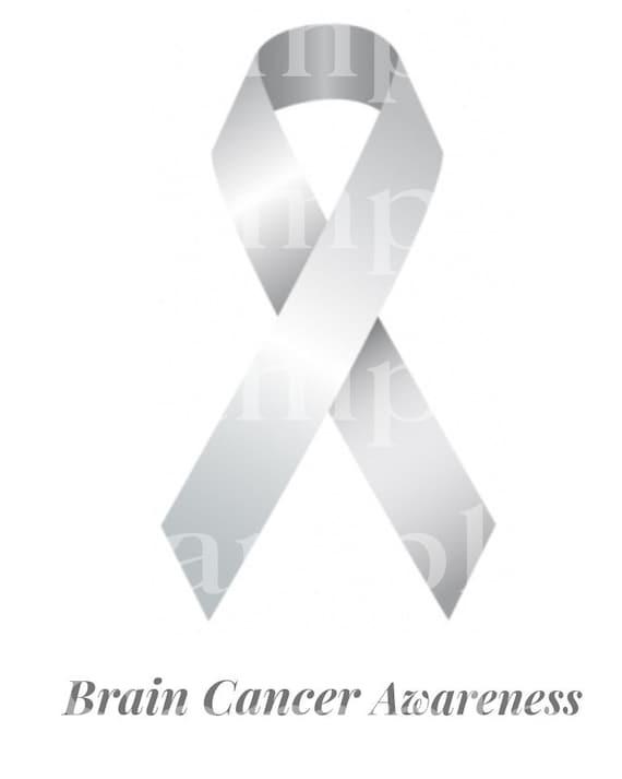 Brain Cancer Awareness Ribbon ~ Edible 2D Fondant Birthday Cake/Cupcake Topper ~ D24513