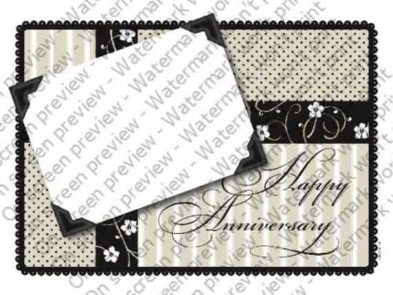 Happy Anniversary ~ Edible 2D Fondant Birthday Cake/Cupcake Topper ~ D4145