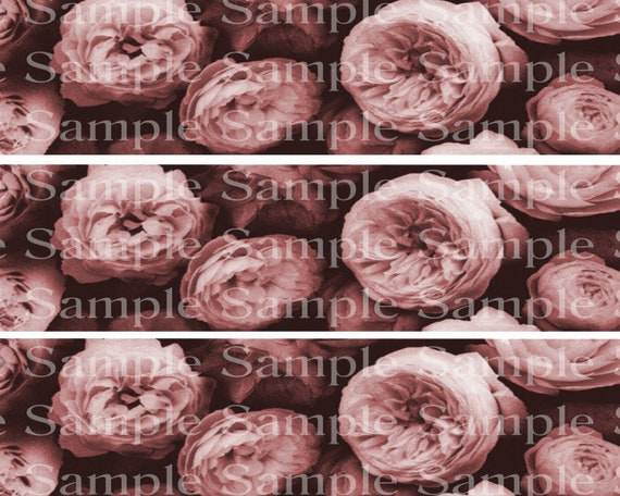 Pink Roses Birthday - Edible Cake Side Toppers- Decorate The Sides of Your Cake! - D24180