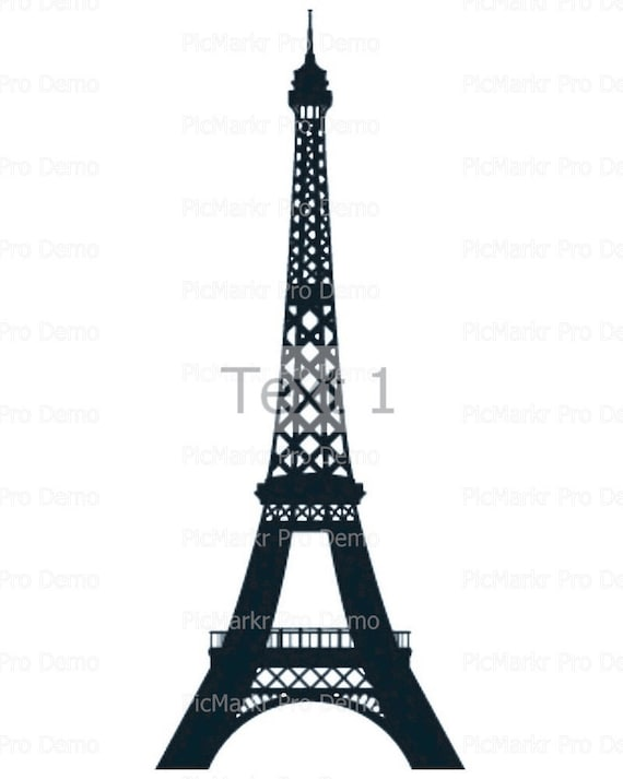 Eiffel Tower Birthday - Edible Cake and Cupcake Topper For Birthday's and Parties! - D21528