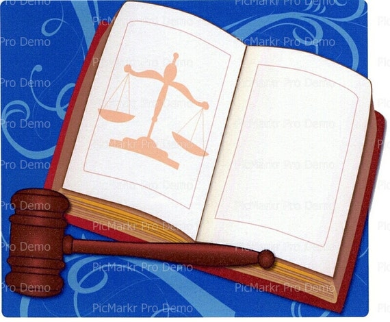Scales of Justice ~ Edible 2D Fondant Birthday Cake/Cupcake Topper ~ D3050