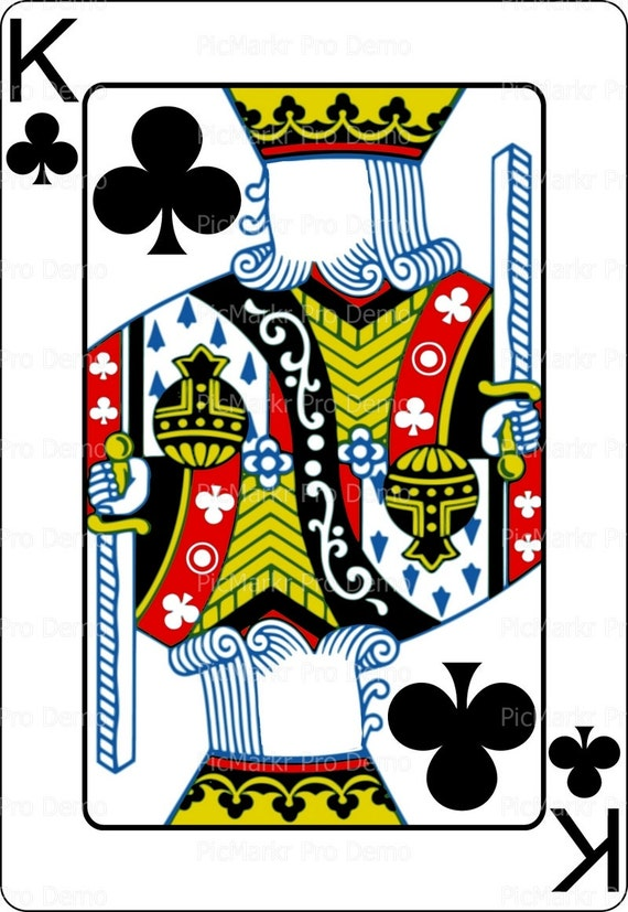 Casino Poker King of Clubs Birthday ~ Edible 2D Fondant Birthday Cake/Cupcake Topper ~ D21860