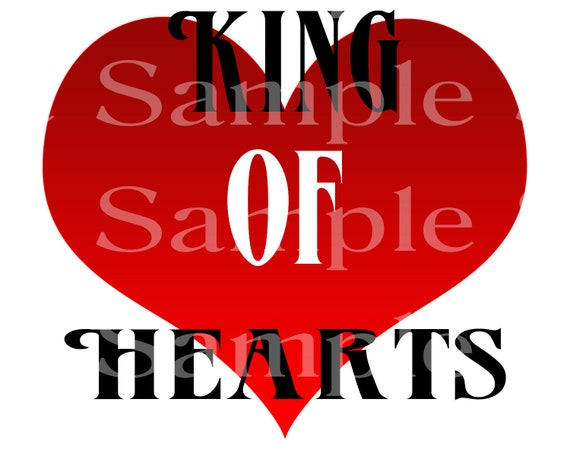 King of Hearts Las Vegas Casino Poker  Birthday ~ Edible 2D Fondant Birthday Cake/Cupcake Topper ~ D21944