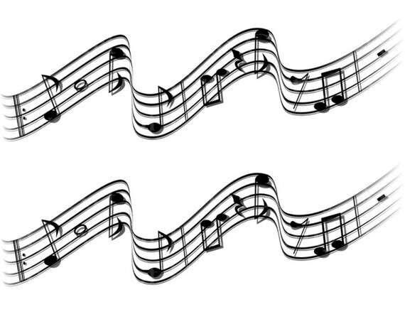 Musical Notes Band Birthday ~ Edible 2D Fondant Birthday Cake Side Toppers ~ D22863
