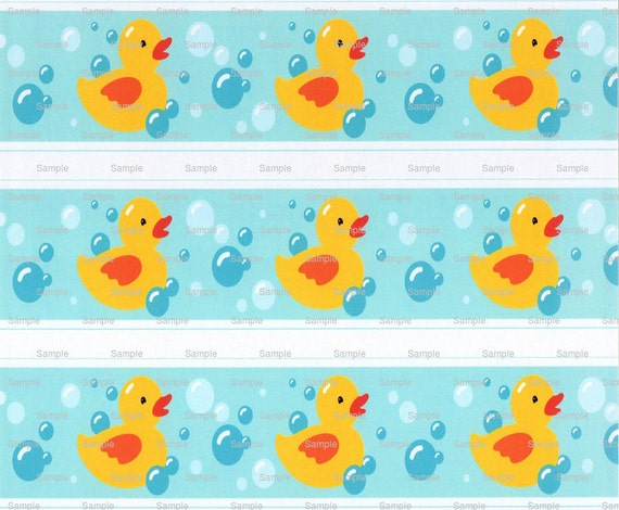 Rubber Duckies Baby Shower - Birthday Background - Side Strips - Edible Cake Side Toppers - Decorate The Sides of Your Cake! - D2910