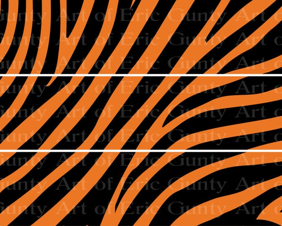 Tiger Stripes - Side Strips - Edible Cake Side Toppers- Decorate The Sides of Your Cake! - D22469