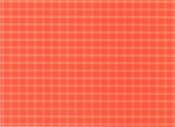 Orange Plaid Background Birthday - Edible Cake and Cupcake Topper For Birthday's and Parties! - D2814