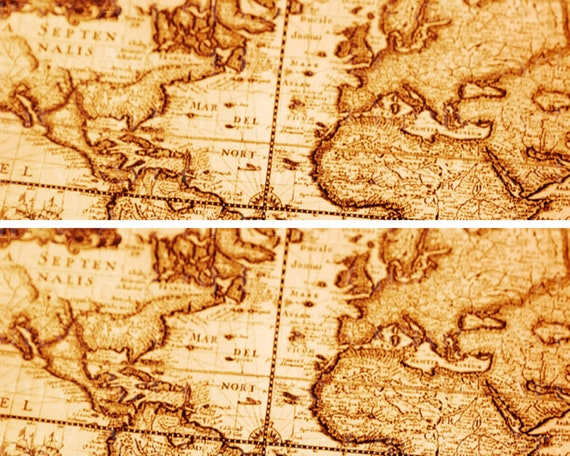 Ancient World Map - Side Strips ~ Edible 2D Fondant Birthday Cake Side Toppers ~ D22391