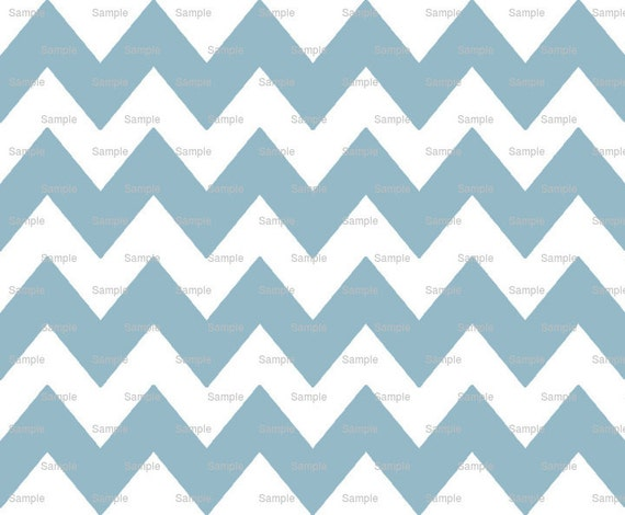 Baby Blue - Chevron Background Birthday - Edible Cake and Cupcake Topper For Birthday's and Parties! - D9808