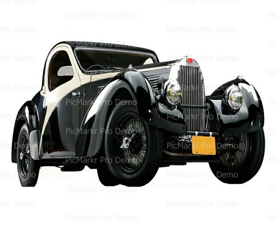 Classic Cars Antique - Edible Cake and Cupcake Topper For Birthday's and Parties! - D9185