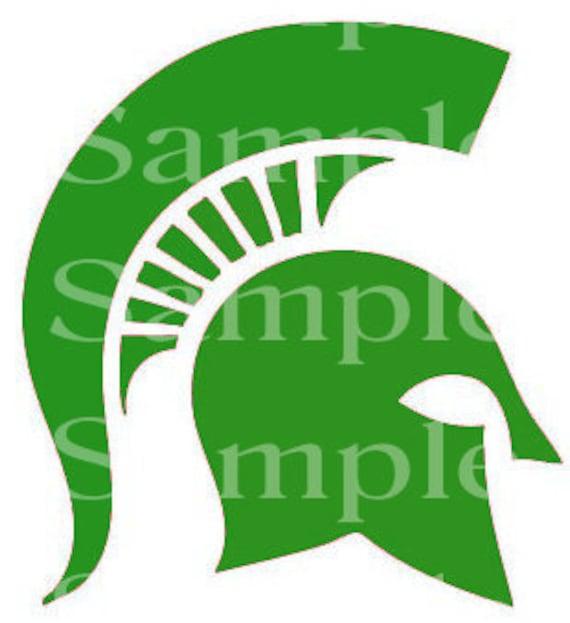 Trojan Spartan Green Mascot Birthday - Edible 2D Fondant Cake/Cupcake Topper For Birthdays and Parties! - D24404
