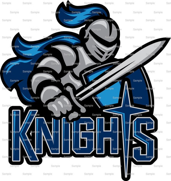 Knights Mascot Birthday - Edible Cake and Cupcake Topper For Birthday's and Parties! - D937