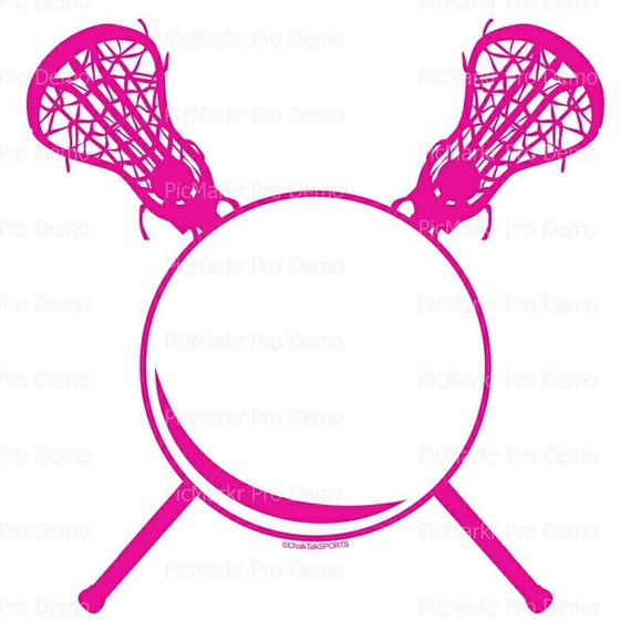 Pink Lacrosse Birthday - Edible Cake and Cupcake Topper For Birthday's and Parties! - D20632