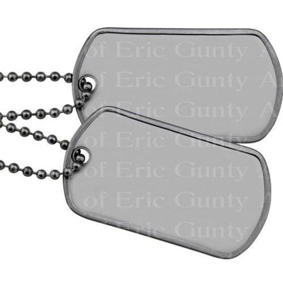 Military Dog Tags Birthday - Edible Cake and Cupcake Topper For Birthday's and Parties! - D22497