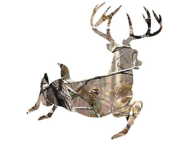 Running Deer Hunting Birthday ~ Edible 2D Fondant Birthday Cake/Cupcake Topper ~ D21649