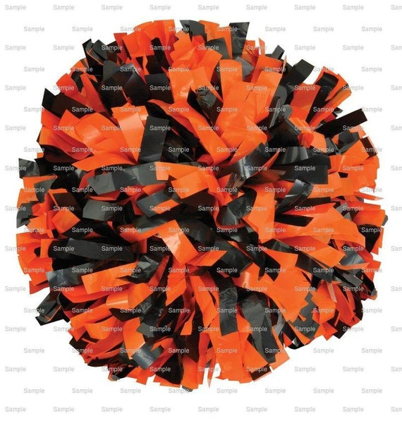 Orange & Black Pom Pon Birthday ~ Edible 2D Fondant Birthday Cake/Cupcake Topper ~ D9979