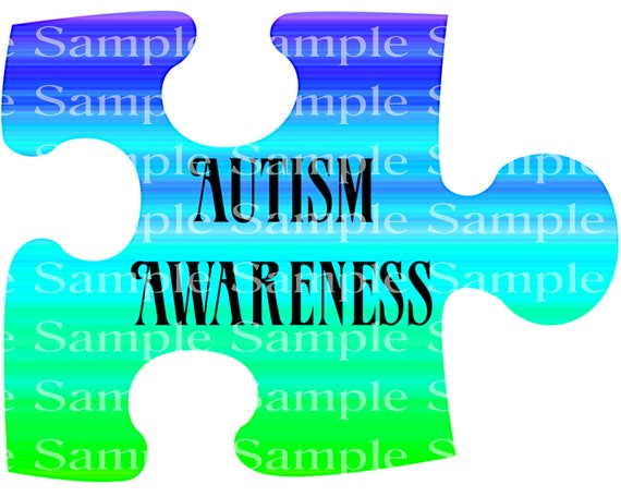 Autism Awareness Birthday - 2D Fondant Edible Cake & Cupcake Topper For Birthdays and Parties! - D24344