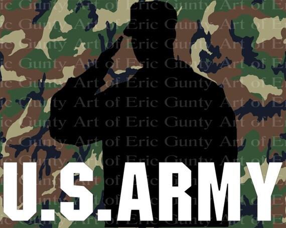 U.S. Army Camo Birthday ~ Edible 2D Fondant Birthday Cake/Cupcake Topper ~ D21914