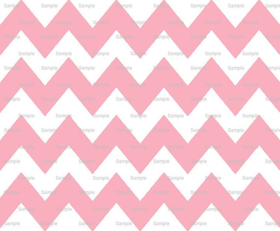 Pink - Chevron Background Birthday - Edible Cake and Cupcake Topper For Birthday's and Parties! - D9842
