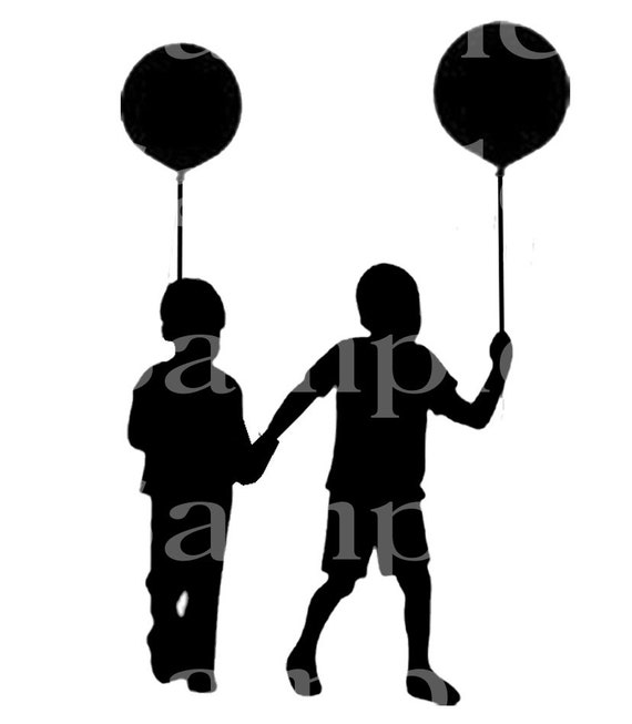 Brothers Silhouette Birthday ~ Edible 2D Fondant Birthday Cake/Cupcake Topper ~ D24545