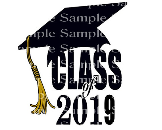 Class of 2019 Black Graduation Cap - 2D Fondant Edible Cake & Cupcake Topper For Birthdays and Parties! - D24245