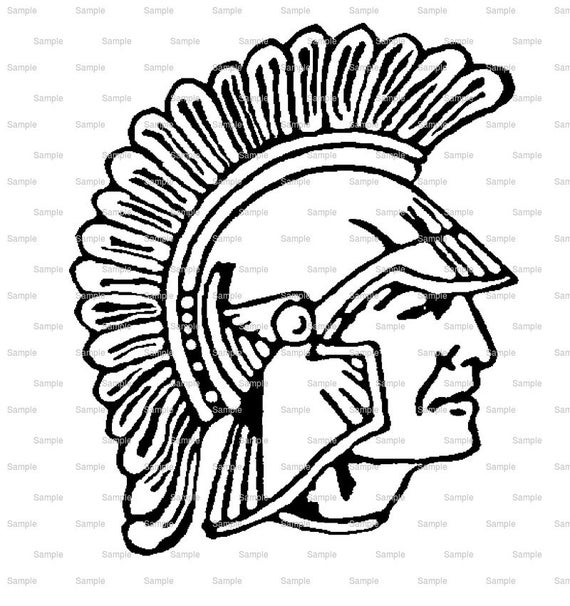 Spartan / Trojan Mascot Birthday ~ Edible 2D Fondant Birthday Cake/Cupcake Topper ~ D847