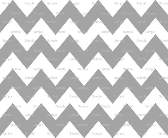 Silver - Chevron Background Birthday - Edible Cake and Cupcake Topper For Birthday's and Parties! - D6345