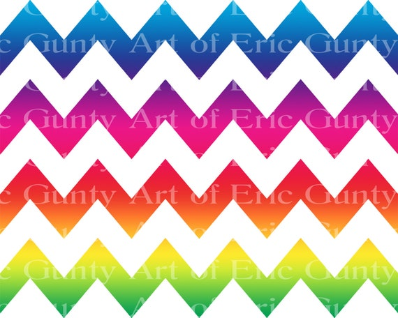 Rainbow Chevron Birthday - Edible Cake and Cupcake Topper For Birthdays and Parties! - D21549