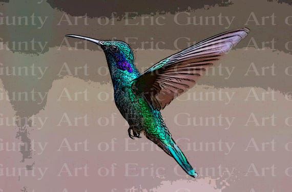 Hummingbird Birthday ~ Edible 2D Fondant Birthday Cake/Cupcake Topper ~ D22761