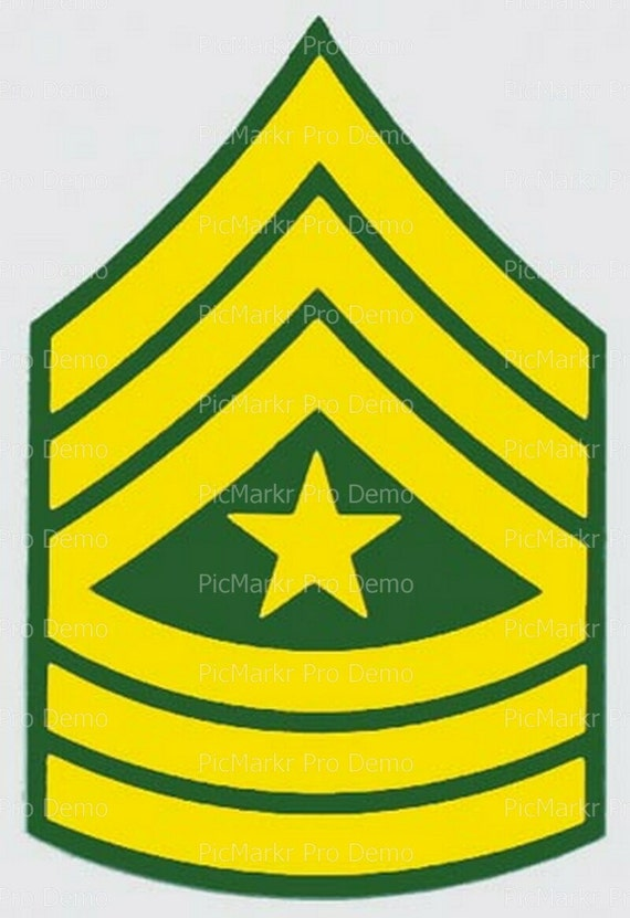Army Sargent Major Military Insignia Birthday - Edible Cake and Cupcake Topper For Birthday's and Parties! - D20501