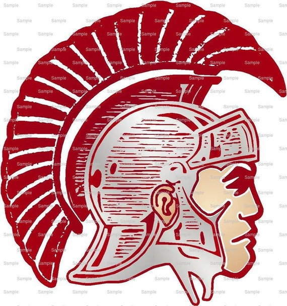 Trojans Mascot Birthday - Edible Cake and Cupcake Topper For Birthday's and Parties! - D964