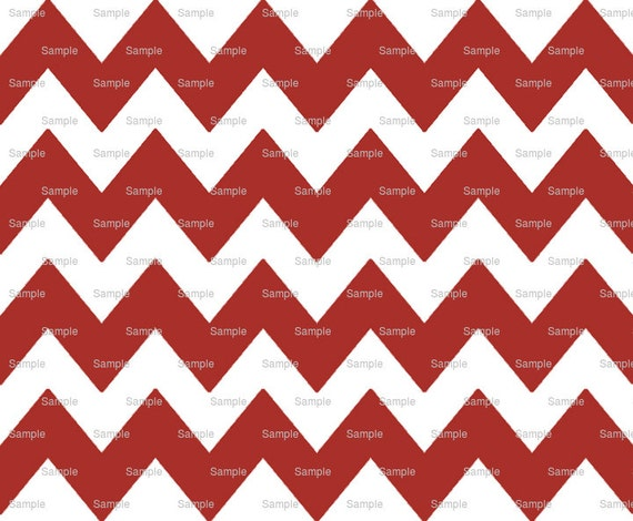 Dark Red - Chevron Background Birthday - Edible Cake and Cupcake Topper For Birthday's and Parties! - D6348
