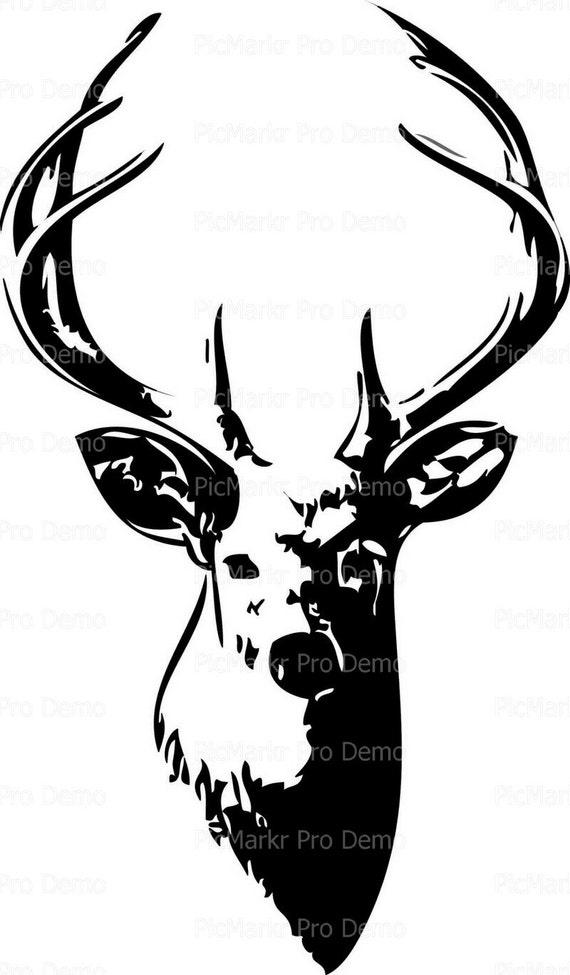 Trophy Deer Hunter Topper ~ Edible 2D Fondant Birthday Cake/Cupcake Topper ~ D20087