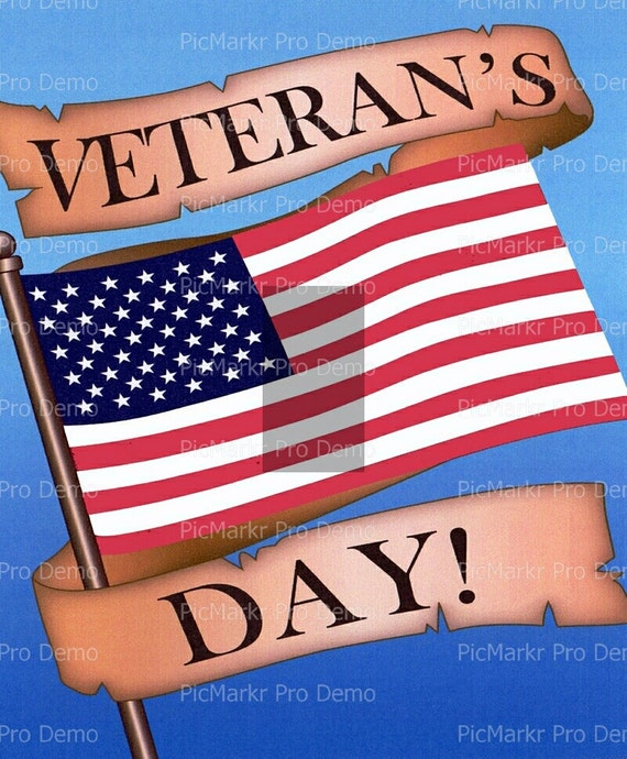 Veteran's Day ~ Edible 2D Fondant Birthday Cake/Cupcake Topper ~ D2279
