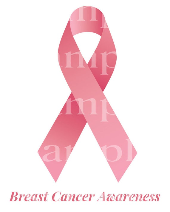 Pink Breast Cancer Awareness Ribbon ~ Edible 2D Fondant Birthday Cake/Cupcake Topper ~ D24514