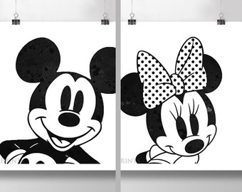 Disney Mickey or Minnie Mouse Print *CHOOSE*