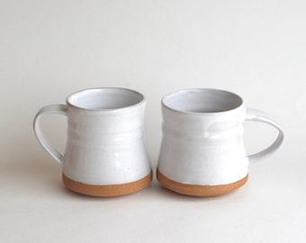 Set of 2 Ceramic Mugs - READY TO SHIP - Handmade Pottery Mugs - Ceramic Cups - Rustic - Coffee Mug - Teacups
